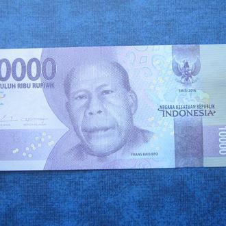 банкнота 10000 рупий Индонезия 2016 UNC пресс