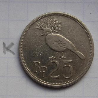 ИНДОНЕЗИЯ 25 рупий 1971 года (ПТИЦА).