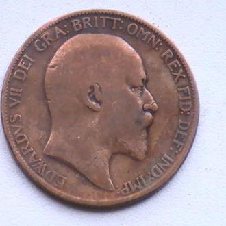 1 Пенни 1906 г Великобритания 1 Пенні 1906 р Великобританія