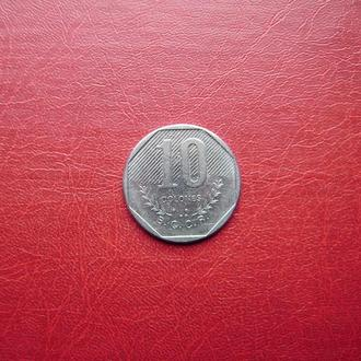Коста-Рика 10 колон 1985