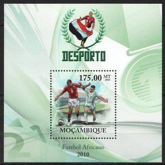 Мозамбик 2010 ** Спорт Футбол ЧМ ЮАР сб.Египта БЛ MNH