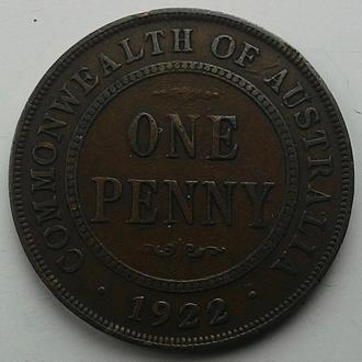 Австралия Георг V 1 пенни 1922 год