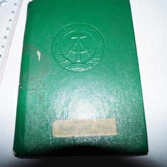 1981 Книжка Социального Страхования ГДР 80 стр. 03