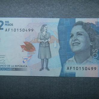 Колумбия 2000 песо 2016 UNC