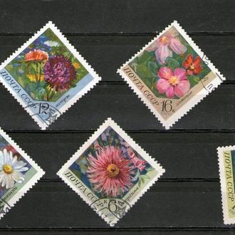 SS 1970 г. Цветы, полная гашенная серия, КЦ15руб.
