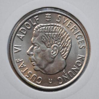Швеция 2 кроны 1965 г., UNC, 'Король Густав VI Адольф (1950-1973)'