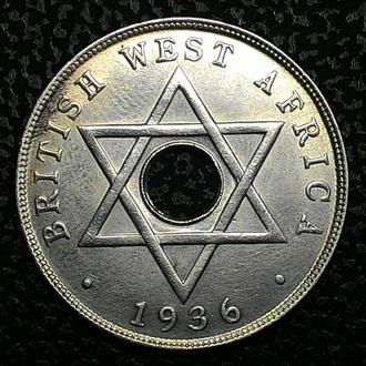 Британская Западная Африка 1 пенни 1936 год ОТЛИЧНОЕ СОСТОЯНИЕ!!!!!