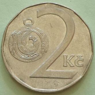 (А) Чехия 2 кроны, 1994 -кленовый лист-
