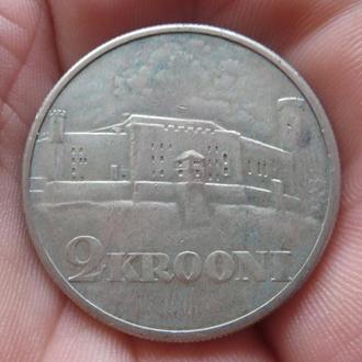 Эстония 2 кроны 1930 Серебро Сохран!