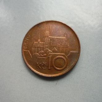 Чехия 10 крон 1993 инициалы сбоку номинала
