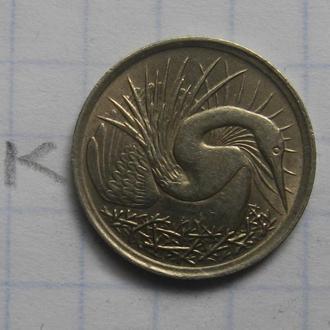 СИНГАПУР 5 центов 1971 г. (ПТИЦА).