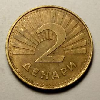 2 денари 2001 года Македония !!! а2