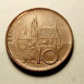 10 крон 1993 года Чехия !!! а2