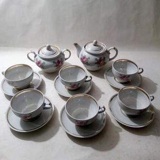 Фарфоровый чайный сервиз СССР.