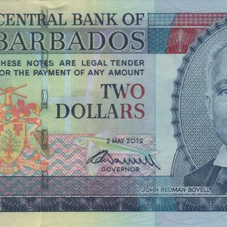 Барбадос 2 доллара 2012г. в UNC