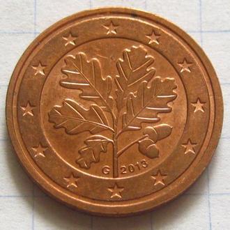 Германия_ 2 евро цента 2013 G оригинал