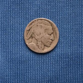 США 5 центов  ( Buffalo nickel )  индеец бизон