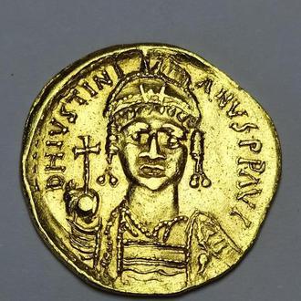 Византия, солид Юстиниан І, золото, вес 4.5 грамм, изумительный сохран!