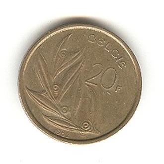 20 бельгийских франков 1982