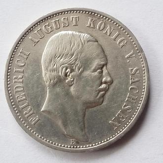 3 марки FRIDRICH AUGUST  SACHSEN Германия  1912 г