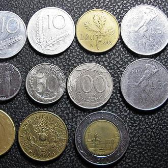 Монеты Италии 15 шт.разные периоды