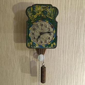 """Часы механические, настенные, ходики, """"Мишки в лесу"""""""