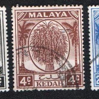 Малайя, Кедах (1950) Британская колония. Сноп риса