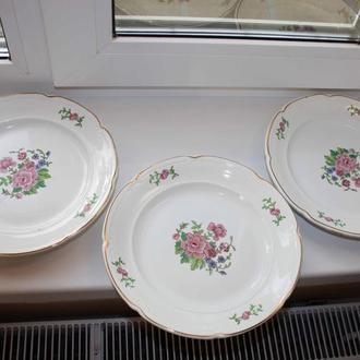 Тарелки для вторых блюд ЗиК 40-50-х годов, 3 шт.