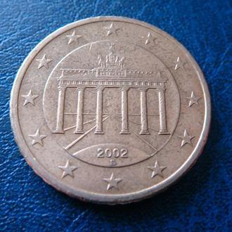 Германия 50 центов 2002 D