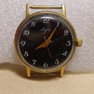 Часы Луч, позолота Au5-, СССР