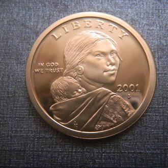 США 1 доллар 2001 S ПРУФ (M2)