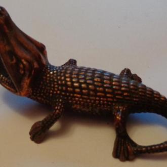 Пепельница крокодил, чугун, СССР
