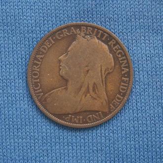 Великобритания  1 пенни  1896 г