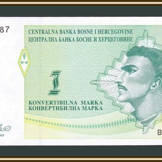 Босния и Герцеговина 1 марка 1998 P-59 (59a) UNC