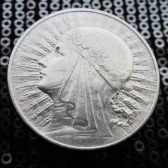 10 злотых 1932 г..Ядвига..Серебро.