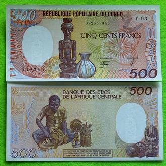 Конго 500 франков 1990 UNC