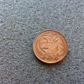 Австралия 2 цента 1966 год (381)