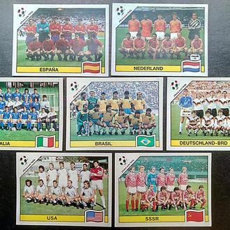 Наклейки, футбол, 1990 г. фото сборных команд по футболу