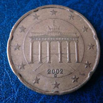 Германия 20 центов 2002 G