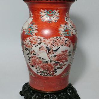 Старинная Лампа Ваза. Кувшин Китай бронза 19 век