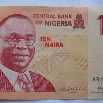 Нигерия 10 найр 2006 год.