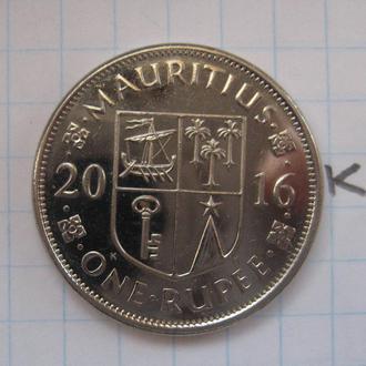 МАВРИКИЙ 1 рупия 2016 года (состояние).