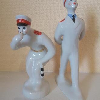 Фарфоровая статуэтка Дядя Степа милиционер