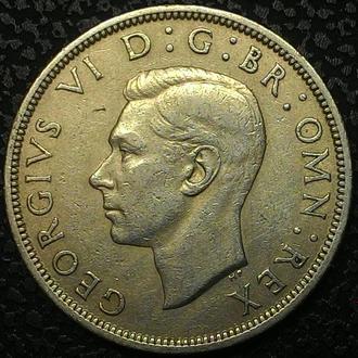 Англия 1/2 кроны 1948 год