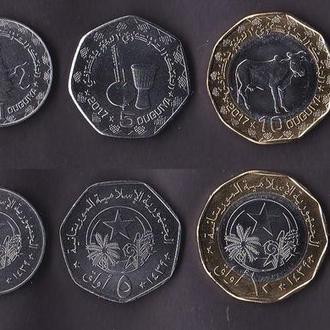 Набор Мавритания 5 монет 2017