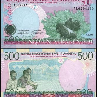 РУАНДА 500 франков 1998г. UNC