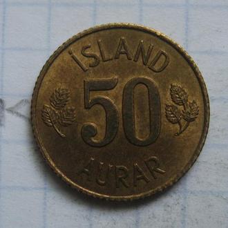 ИСЛАНДИЯ. 50 аурар 1970 года.