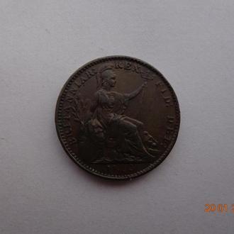 Великобритания 1 фартинг 1822 George IV СУПЕР состояние очень редкая