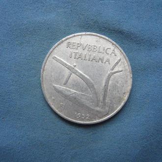 Италия 10 лир 1952 год