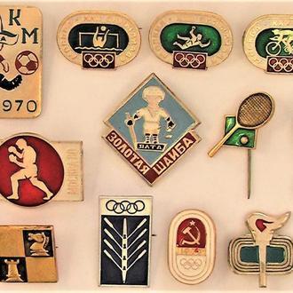 Значки 12 штук СССР разные Лот А 67